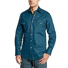 Wrangler Men's Authentic Cowboy Cut Work Western Long-Sleeve Firm Finish Shirt