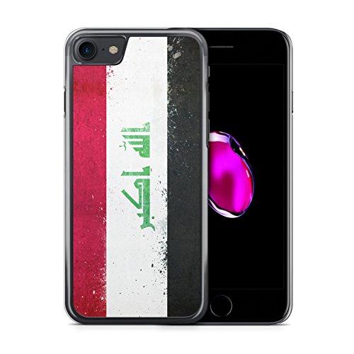 Irak Grunge iPhone 7 Hardcase Hülle Cover Case Schutz Handyhülle Flagge Flag Iraq