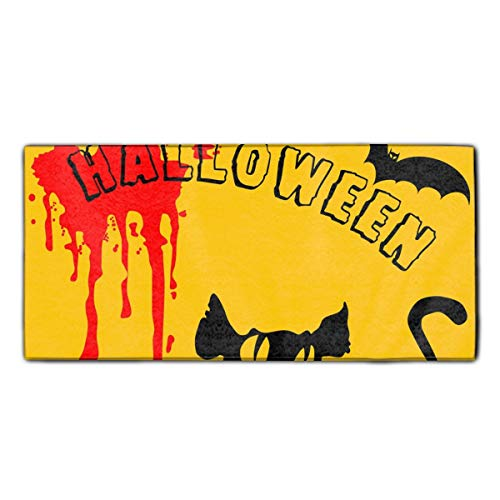 shunshunfeng Black Halloween Fingertip Towels Highly Absorbent Face Cloths Sport and Workout Towels (Black Fingertips Halloween)