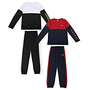 Best Epic Trends 41bi0ToHUDL._SS300_ Hind Boys 4-Piece Active Long Sleeve Quick Dry T-Shirt and Athletic Jogger Sweatpant Set Kids Clothes for Sports and…