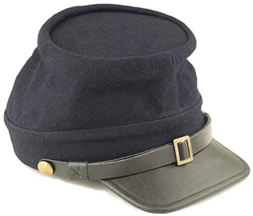 Blue Kepi (Deluxe Enlisted Men's Kepi - Union Blue (Medium))