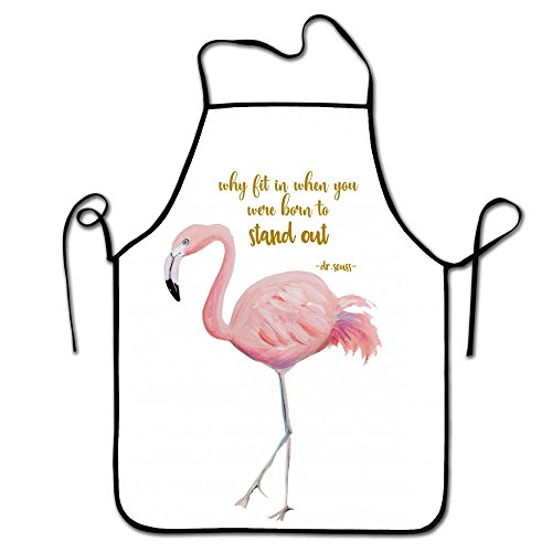 Liubajsdj-Waist Adjustable Professional Apron Kitchen Flamingo Printable Woman Aprons Comfortable Perfect For Cooking Guide