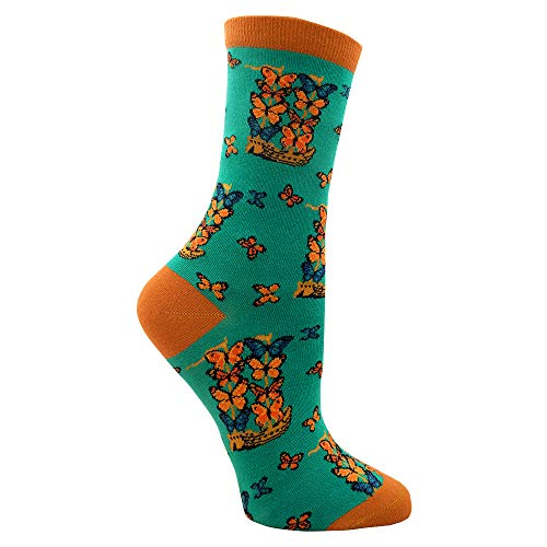 Ship with Butterfly Sails Luxury Art Socks]()