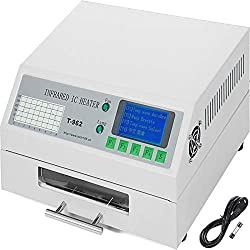 Happybuy Reflow Oven T962 110V Reflow Soldering Machine 800W 180 x 235 mm Professional Infrared Heater Soldering Machine Automatic Reflow Machine (T962 110V)