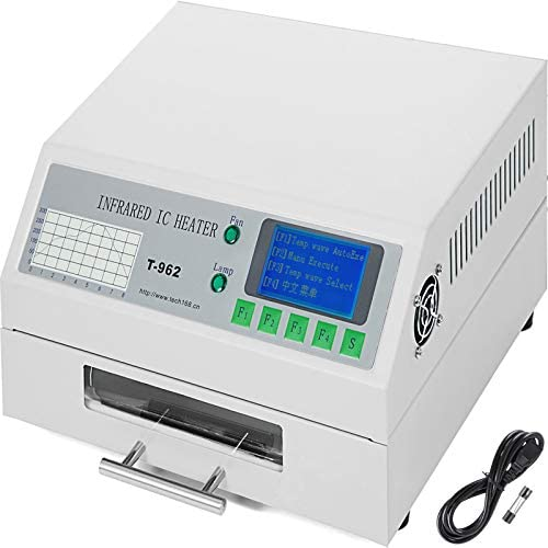 Happybuy Reflow Oven T962 110V Reflow Soldering Machine 800W 180 x 235 mm Professional Infrared Heater Soldering Machine Automatic Reflow Machine T962 110V