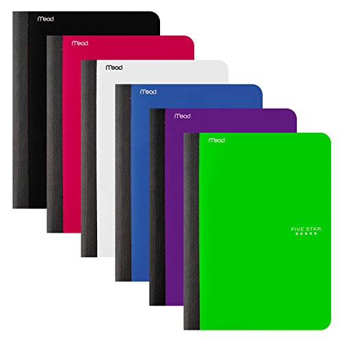 Five Star Composition Books/Notebooks with Pocket, College Ruled Paper, 100 Sheets, 9-3/4