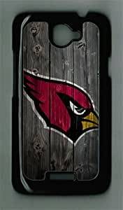 Arizona Cardinals Wood HTC ONE X Black Sides Hard Shell PC Case by eeMuse by runtopwell