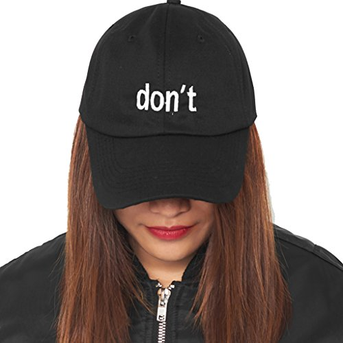 Dont Embroidered Dad Hat 100% Cotton Baseball Cap For Men And Women