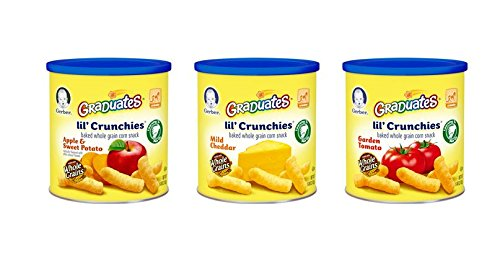 Gerber Graduates Little Crunchies Whole Grain Corn Snacks Variety Pack, 1.48 Ounce (Pack of 6)