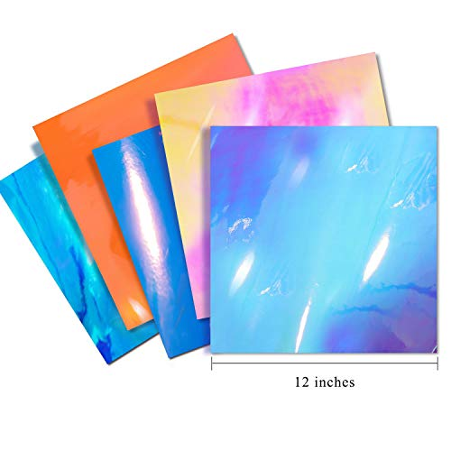 Holographic Chrome Craft Adhesive Vinyl Pack 5 Sheets 12