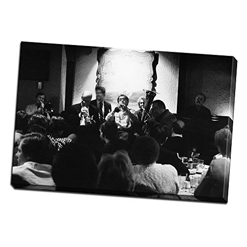 (wallsthatspeak Woody Allen Performing in Michael Printed on 12x8 Canvas Wall Art by Movie Star News)