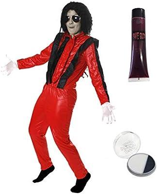 Disfraz de Michael Jackson en Thriller para niños: Amazon.es: Ropa ...