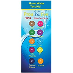ProaKtive LLC Drinking water test strips MEGA pack of 150 Strips - Drinking Water, Ponds, Aquariums, Test in Seconds for Lead, Chlorine, Alkalinity, pH, Metals