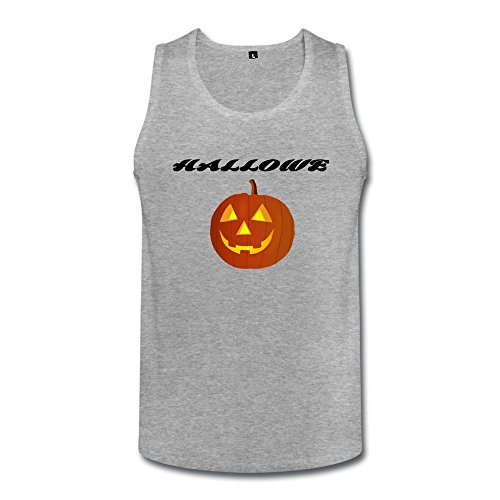 Halloween Pumpkin Mens Halloween Pumpkin Tank Tops HeatherGray ()