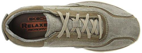 Monavo Uomo 9 EU Scarpe Superior Stringhe Beige 10 UK Skechers 43 US 4S5qnw