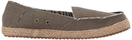 Slip Dark On Sanuk Women's Fiona Loafer Olive xXqEHt