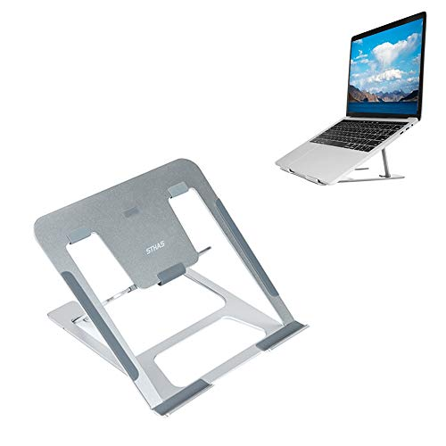 - Laptop Stand for Desk Adjustable Foldable Notebook Stand Portable Laptop Riser Desktop Holder Compatible with Apple MacBook Air/Pro Asus, XPS, Acer, Lenovo 7-15