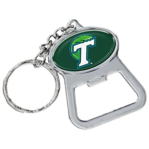 Stockdale Technologies Tulane Green Wave Metal Key Chain and Bottle Opener W/Domed Insert
