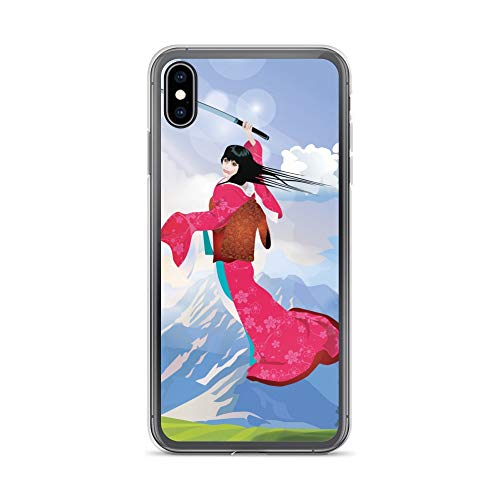 iPhone Xs Max Case Anti-Scratch Japanese Comic Transparent Cases Cover Geisha Warrior Anime & Manga Graphic Novels Crystal Clear