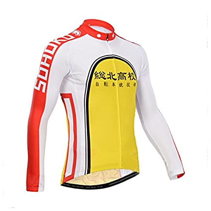 eb18718ca Image Unavailable. Image not available for. Color  Yowamushi Pedal Men s  Pro Team Breathable Long Sleeve Cycling Jersey Sohoku
