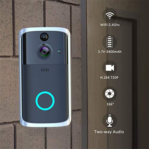 Wireless WiFi Video Doorbell Camera,Unine 1080P HD Smart Wi-Fi Video Ring,Anti-Theft Secure Camera with Remote Real-time Video,Motion Detector,Two-Way Audio Night Vision,Waterproof,TF Support
