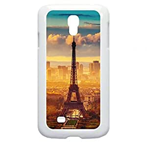 Eiffel Tower in the Daylight - Case for the Galaxy S4 i9500 -Hard White Plastic Outer Shell with Inner Soft Black Lining