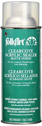 FolkArt 789 Clearcote Acrylic Sealer, 12 oz, Matte by FolkArt