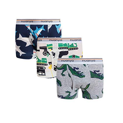 Boys Boxer Briefs Shorts, Cotton Dinosaur Shark Baby Toddler Underwear for Kids Boy 3 Pack 2/3t