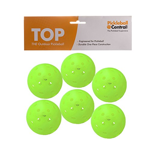 TOP ball (The Outdoor Pickleball) - 6 count - Neon Green