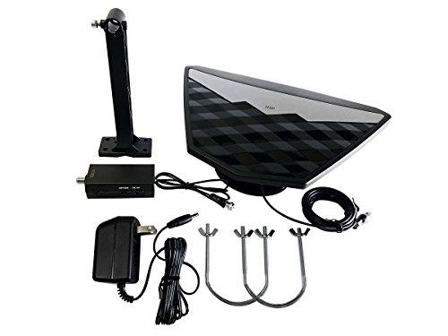 Monoprice Active Indoor/Outdoor HD6 Hdtv Antenna, 50 Mile Range, Video Antenna (115953)