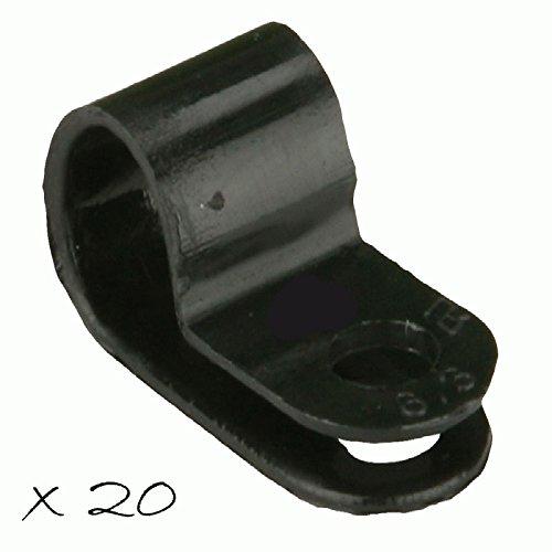 "20 3/8"" Power Wire Clamp Black Nylon Cable Tie Down Holder Car Audio Split Loom"