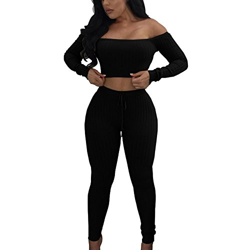 Women Fashion Split 2 Piece Set Casual Bodycon Casual Outfit Sportswear,SUNSEE 2019 NEW -