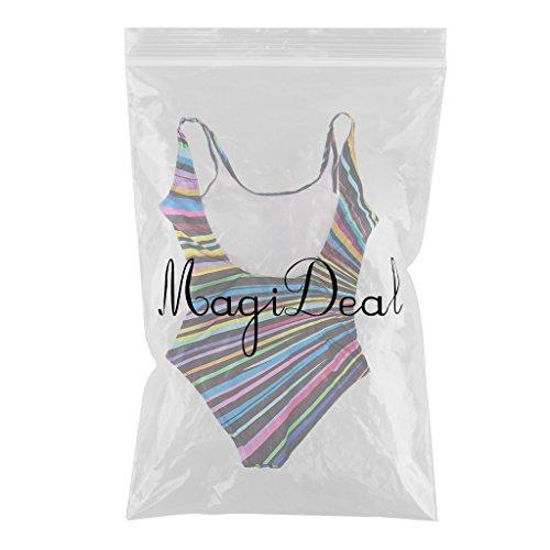 MagiDeal Traje De Baño De Una Pieza De Colores De Las Mujeres Rellenado Multicolor
