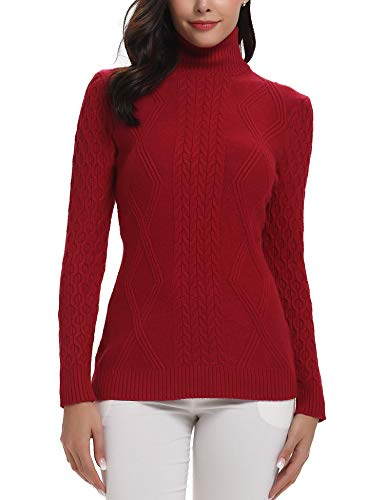 womens sweaters cable knit vintage lightweight turtleneck