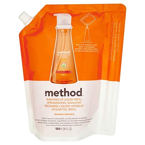 Method Dish Soap Refill, Clementine, 36 Ounce (Pack 2) by Method
