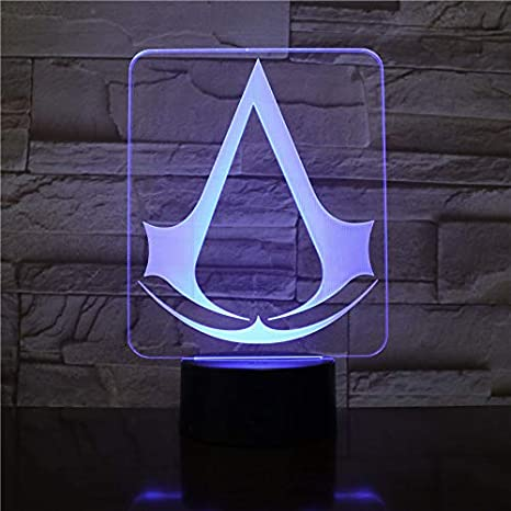 3D Illusion Nuit Lumière Logo du jeu Assassin's Creed LED