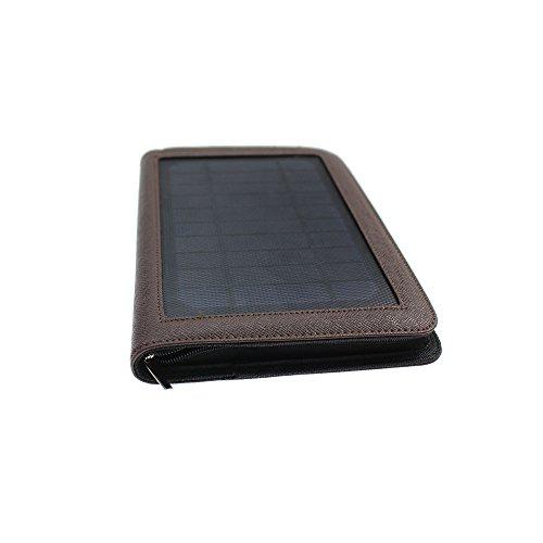 Organizador solar para computadora portátil, batería recargable de 5000 mAh, panel solar de 4 W/5 V, calculadora solar,...