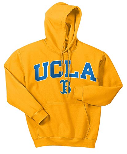 Elite Fan Shop NCAA Men's Ucla Bruins Hoodie Sweatshirt Team Color Arch Ucla Bruins Gold XX Large ()