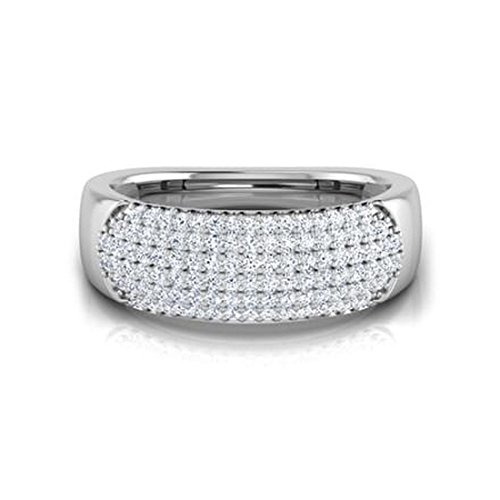 14K Or blanc, 0,34carat Diamant Taille ronde (IJ | SI) en diamant