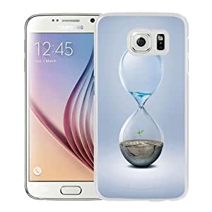 NEW Unique Custom Designed Samsung Galaxy S6 Phone Case With Hourglass Earth Water_White Phone Case