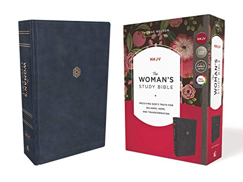 (The NKJV, Woman's Study Bible, Leathersoft, Blue, Full-Color, Thumb Indexed: Receiving God's Truth for Balance, Hope, and Transformation)