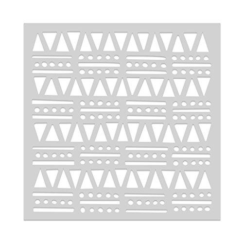 "Hero Arts SA106 Stencil, Tribal Shapes, 6"" x 6"""