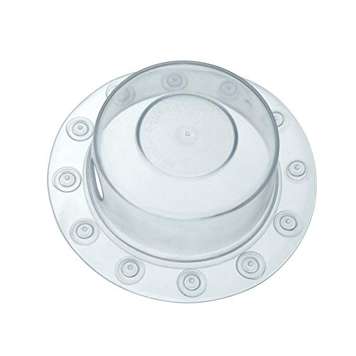 SlipX Solutions Bottomless Bath Overflow Drain Cover Adds Inches of Water to Tub for Warmer, Deeper Bath (Clear, 4