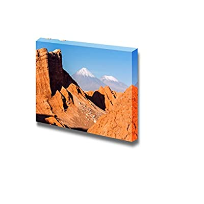 Canvas Prints Wall Art - Beautiful Landscape of Volcanoes Licancabur and Juriques of Chile | Modern Wall Decor/Home Art Stretched Gallery Canvas Wraps Giclee Print & Ready to Hang - 16