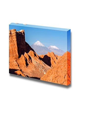 Beautiful Landscape of Volcanoes Licancabur and Juriques of Chile Wall Decor