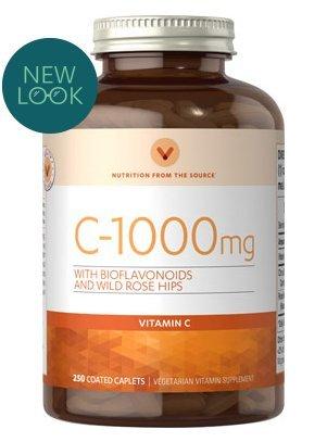 Vitamin World Vitamin C 1000 mg. with Bioflavonoids 250 rapid release capsules