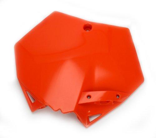 Ktm Number Plates - Cycra 1CYC-0800-22 Orange Plastic Motorcycle Stadium Front Number Plate