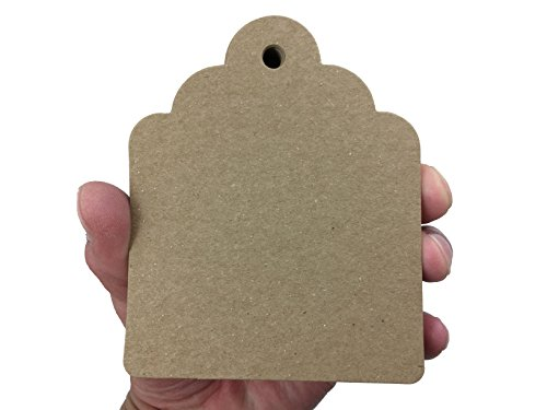 100 Count Large Kraft Brown Hang Tags for Crafts, Gifts, Party Favors, Price Tags