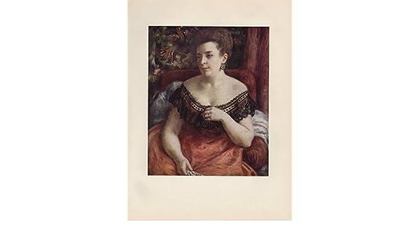 """1957 Vintage RENOIR /""""PORTRAIT OF MADAME PORTALIS/"""" COLOR Art Print Lithograph"""