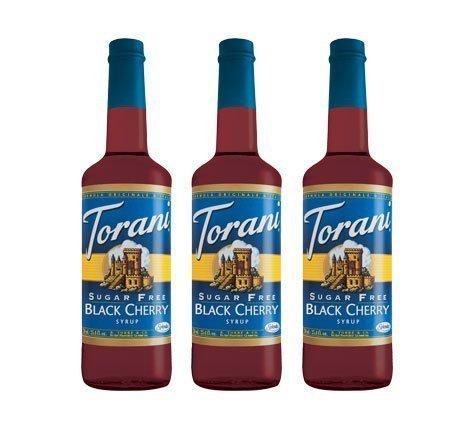 Torani 3-Pack Sugar Free Black Cherry Syrup 750mL by Torani